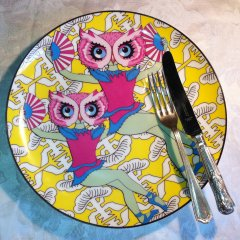 bold design owl-plate-burnt-offereings-ltd