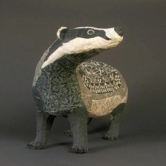 susan-obyrne-contemporary-badger-figurine